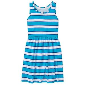 Gymboree Girl Aqua Stripe Striped Dress SMALL 5/6